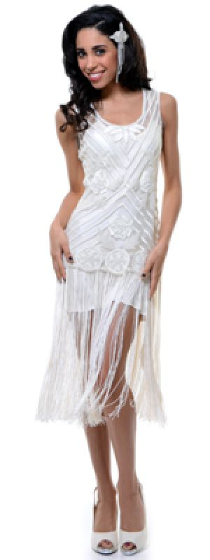 New Style Exports 1920s Style Ivory Beaded Rosalie Flapper Dress.jpg