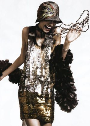 Sequin flapper dress via so in fashion feather boa 1920s flapper cocktail party.jpg