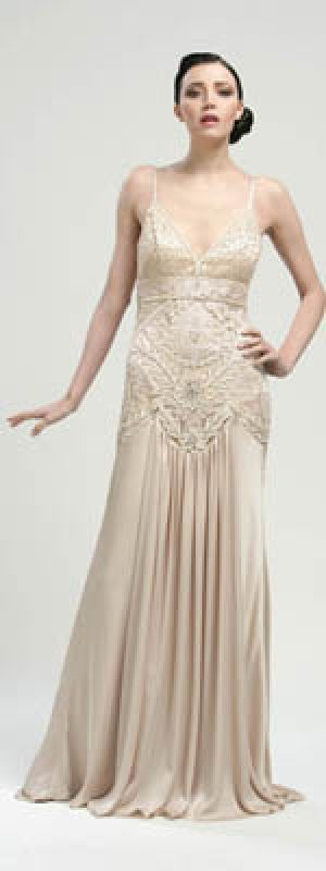 Sue Wong Antique Champagne Embroidered Drop Waist Satin Long Flapper Dress.jpg