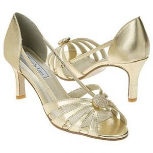 Touch Ups by Benjamin Walk Gemini Shoes - Gold - Womens Wedding Shoe.jpg