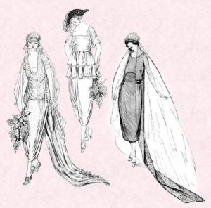 the vintage wedding - style 1920s - 1920-magazine-drawings-of-brides.jpg