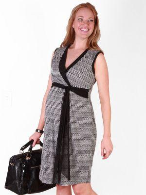 Angel Maternity Angel Maternity Nursing Dress in Licorice Print.jpg
