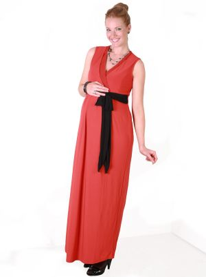 Angel Maternity Maternity Evening Dress in Lush Burnt Orange.jpg