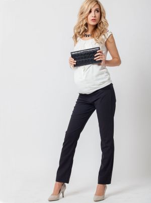 Angel Maternity Maternity Pants in Straight Leg - Dark Charcoal.jpg