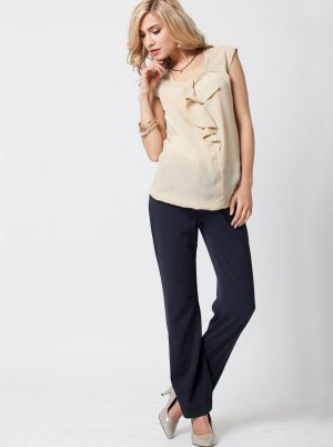 Angel Maternity Maternity pant in straight cut - Dark Grey.jpg