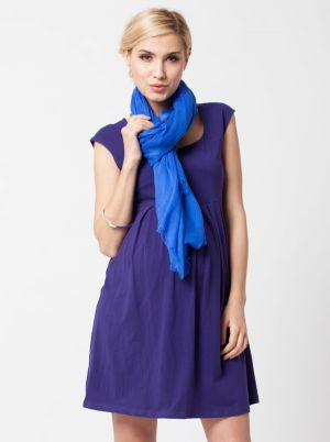 Angel Maternity Top Seller Cotton cap sleeve maternity dress in Deep Violet.jpg