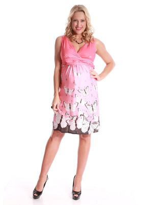 Angel Maternity Versatile Maternity Evening Dress in Pink print.jpg