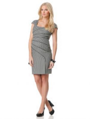 Black Halo Short Sleeve Sheath Maternity Dress.jpg