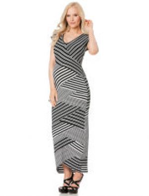 Nicole Miller Short Sleeve Maternity Maxi Dress.jpg