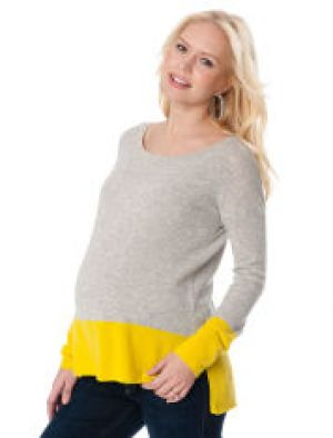 Vince Long Sleeve Colorblock Maternity Sweater.jpg
