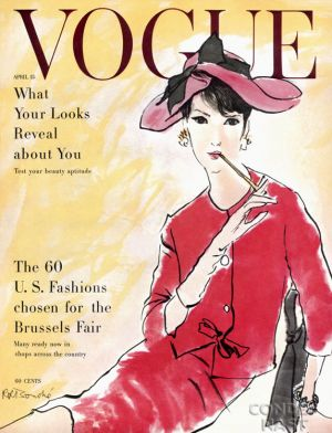 Vintage Vogue magazine covers - mylusciouslife.com - April 15 1958 - vintage cover of Vogue.jpg