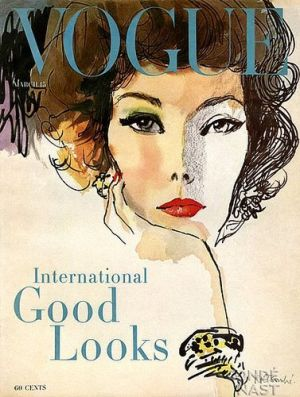 Vintage Vogue magazine covers - mylusciouslife.com - Vintage Vogue March 1958.jpg