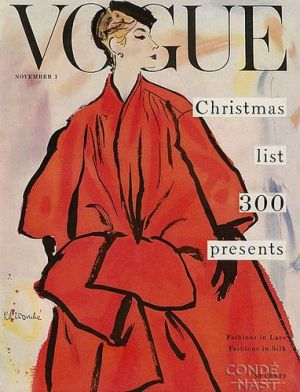 Vintage Vogue magazine covers - mylusciouslife.com - Vintage Vogue November 1953.jpg