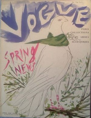 Vintage Vogue magazine covers - mylusciouslife.com - Vintage Vogue UK April 1949.jpg