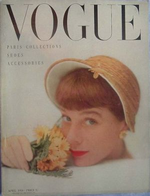 Vintage Vogue magazine covers - mylusciouslife.com - Vintage Vogue UK April 1950.jpg