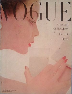 Vintage Vogue magazine covers - mylusciouslife.com - Vintage Vogue UK August 1950.jpg