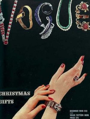 Vintage Vogue magazine covers - mylusciouslife.com - Vintage Vogue UK December 1940.jpg