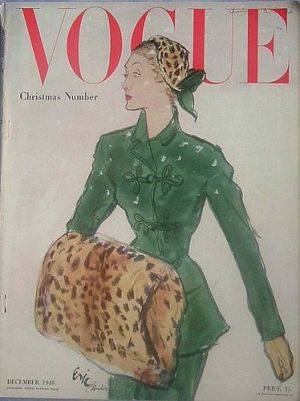 Vintage Vogue magazine covers - mylusciouslife.com - Vintage Vogue UK December 1948.jpg