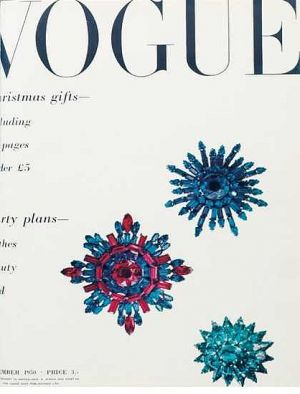 Vintage Vogue magazine covers - mylusciouslife.com - Vintage Vogue UK December 1950.jpg