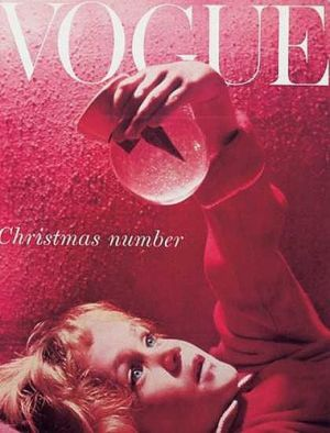 Vintage Vogue magazine covers - mylusciouslife.com - Vintage Vogue UK December 1955.jpg