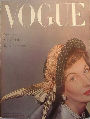 Vintage Vogue magazine covers - mylusciouslife.com - Vintage Vogue UK February 1949.jpg