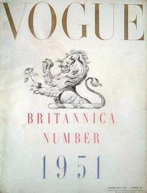 Vintage Vogue magazine covers - mylusciouslife.com - Vintage Vogue UK February 1951.jpg