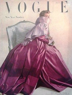 Vintage Vogue magazine covers - mylusciouslife.com - Vintage Vogue UK January 1949.jpg