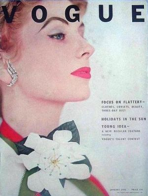 Vintage Vogue magazine covers - mylusciouslife.com - Vintage Vogue UK January 1953.jpg