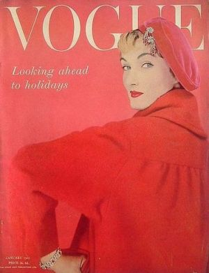Vintage Vogue magazine covers - mylusciouslife.com - Vintage Vogue UK January 1955.jpg