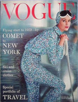 Vintage Vogue magazine covers - mylusciouslife.com - Vintage Vogue UK January 1959.jpg