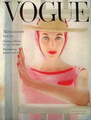 Vintage Vogue magazine covers - mylusciouslife.com - Vintage Vogue UK July 1954.jpg