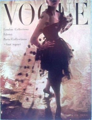 Vintage Vogue magazine covers - mylusciouslife.com - Vintage Vogue UK March 1950.jpg