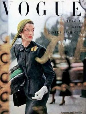 Vintage Vogue magazine covers - mylusciouslife.com - Vintage Vogue UK November 1949.jpg
