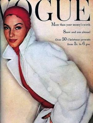 Vintage Vogue magazine covers - mylusciouslife.com - Vintage Vogue UK November 1954.jpg