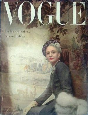 Vintage Vogue magazine covers - mylusciouslife.com - Vintage Vogue UK September 1948.jpg