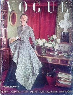 Vintage Vogue magazine covers - mylusciouslife.com - Vintage Vogue UK September 1950.jpg