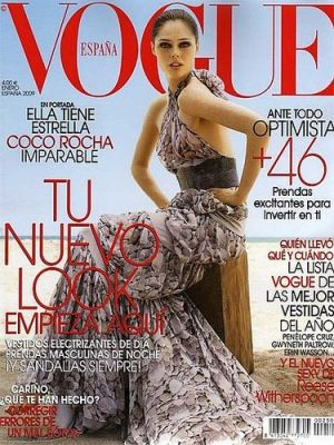 Vogue magazine covers - mylusciouslife.com - Vogue Espana January 2009 - Coco Rocha.jpg