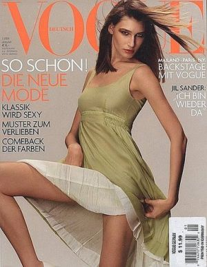 Vogue magazine covers - mylusciouslife.com - Vogue Germany January 2004 - Eugenia Volodina.jpg