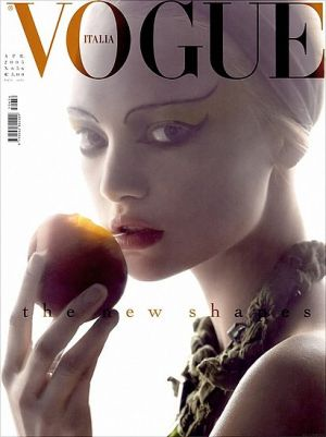 Vogue magazine covers - mylusciouslife.com - Vogue Italia April 2005 - Gemma Ward.jpg