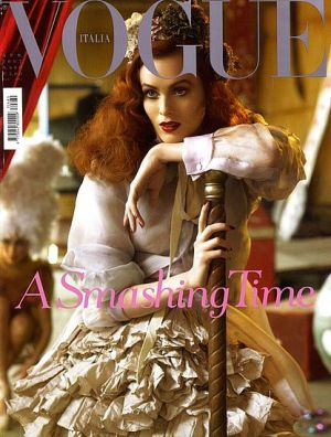Vogue magazine covers - mylusciouslife.com - Vogue Italia April 2007 - Karen Elson.jpg