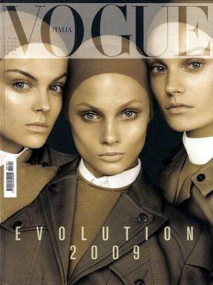 Vogue magazine covers - mylusciouslife.com - Vogue Italia January 2009.jpg