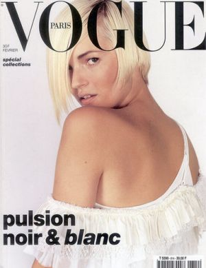 Vogue magazine covers - mylusciouslife.com - Vogue Paris February 2001 - Kate Moss.jpg