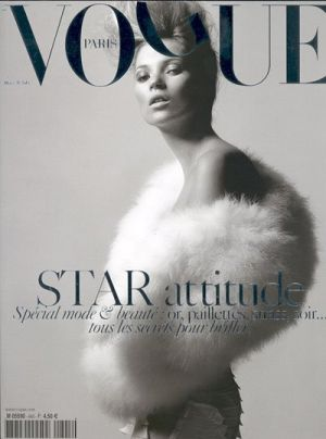 Vogue magazine covers - mylusciouslife.com - Vogue Paris March 2004 - Kate Moss.jpg