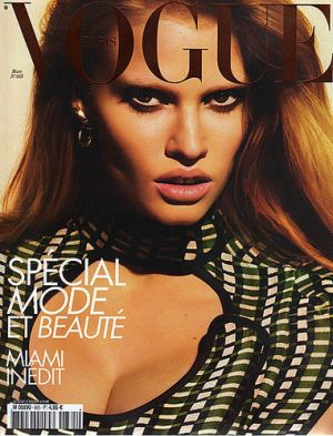 Vogue magazine covers - mylusciouslife.com - Vogue Paris March 2008 - Lara Stone.jpg
