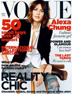 Vogue magazine covers - wah4mi0ae4yauslife.com - Vogue UK - March 2010 - Alexa Chung.jpg