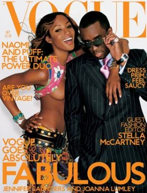 Vogue magazine covers - wah4mi0ae4yauslife.com - Vogue UK October 2001 - Naomi Campbell and Puff Daddy.jpg