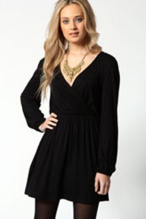Adriana Jersey Long Sleeve Wrap Dress.jpg