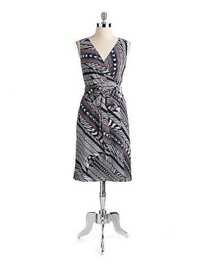 Anne Klein Printed Wrap Dress.jpg