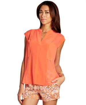 BCBGMAXAZRIA Top Sleeveless Silk Blouse.jpg