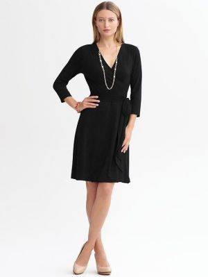 Black Banana Republic Gemma Wrap Dress.jpg